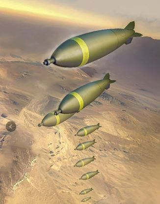 Picture of U.S.  bomb set (Mk117*27 and Mk84 *16)