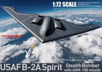 Picture of USAF B-2A Spirit Stealth Bomber with AGM-158 missile